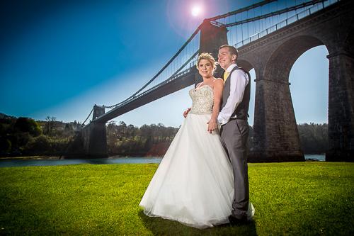 Wedding at Menai Bridge by Mel Parry